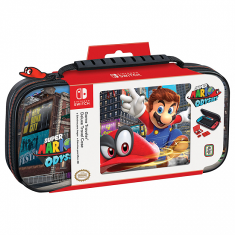 estuche switch game traveler deluxe nns58 super mario