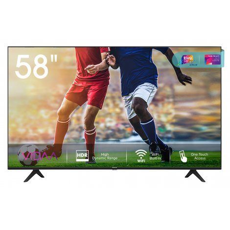 "tv hisense 58"" 58a7100f uhd smart tv wifi hdr10+ s/m"